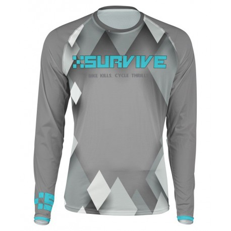 XSURVIVE Dark Gray Everyday 2017 Downhill Jersey